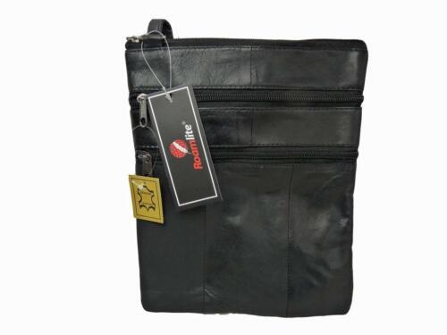 Mens Mans Soft Leather Travel Pouch Man Bag Neck Shoulder Holster Bags RL117M