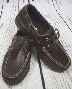 Details about Timberland 7 Dark Brown Full Grain Piper Cove Boat Shoes