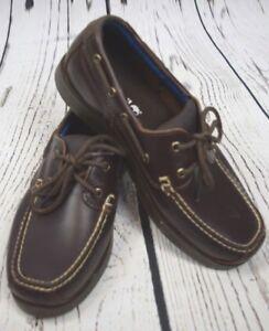 Timberland 7 Dark Brown Full Grain Piper Cove Boat Shoes