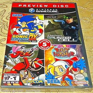 Nes-Nintendo-Gamecube-System-Spiel-Vorschau-Disk-Nintendo-Neu-Ovp-Zelda-Sonic