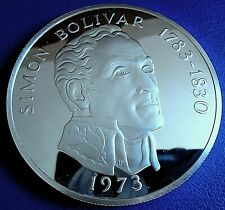 PANAMA: 1973 20 Balboas, 3.8538 tr oz silver proof + cap, box, cert - top grade