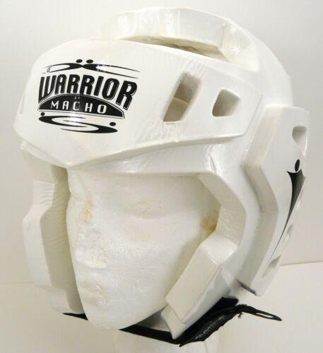 Head Gear Taekwondo Karate MMA Protector Sparring Macho WARRIOR White Medium