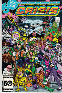 CRISIS on INFINITE EARTHS #4 signed 1st print GEORGE PEREZ DC COMIC 1984 JLA COA