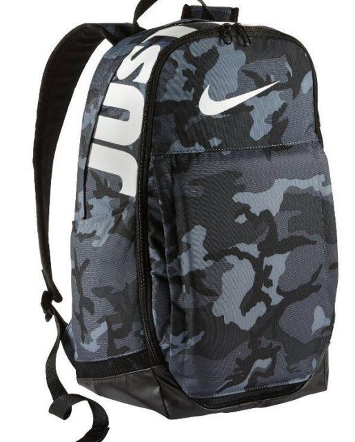Nike Brasilia Cool Grey Black White Camo XL Training Backpack (BA5482- fc7690e262