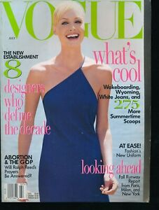 VOGUE-July-1996-Fashion-Magazine-AMBER-VALLETTA-Cover-by-STEVEN-MEISEL-Very-Fine