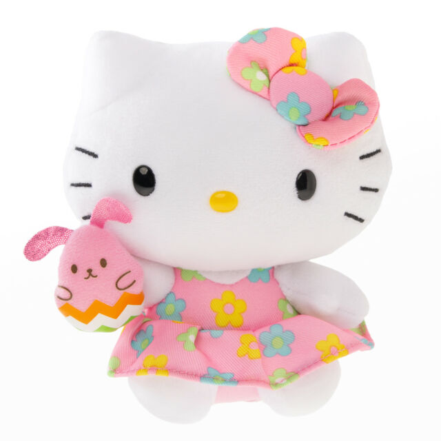 Buy Hello Kitty Original Ty Beanie Babies Flower Dress Holding Pink ... 610ecc25db5
