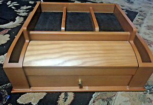Large Deluxe Jewelry Organizer Lori Greiner Wood Armoire Storage
