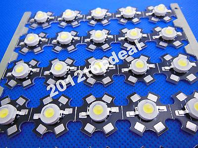 1W 3W High Power cool/warm white 3000k 4000k 10000k-30000k LED + 20mm star pcb