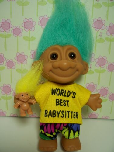 "NEW IN ORIGINAL WRAPPER WORLD/'S BEST BABYSITTER 5/"" Russ Troll Doll"