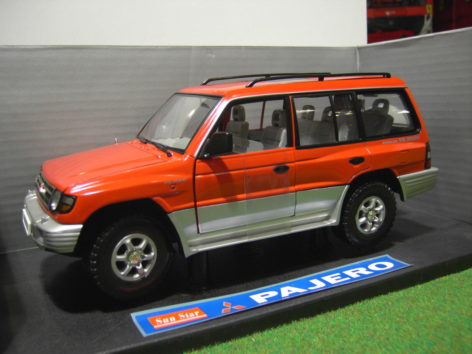 MITSUBISHI PAJERO 4X4 LONG 98 ( european ) 1 18 voiture miniature SUN STAR 1211