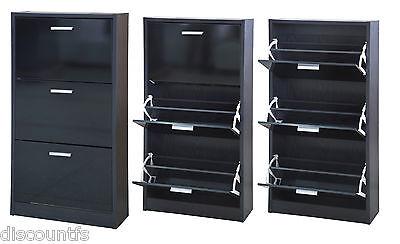 High Gloss Bedroom Furniture Range Wardrobe Chest Bedside Desk Shoe Rack Ottoman
