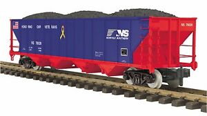 MTH 70-75056, 1 Gauge / G Scale,  4-Bay Hopper Car - Norfolk Southern (Veterans)