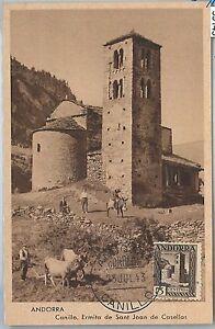 59143 - ANDORRA - POSTAL HISTORY: MAXIMUM CARD 1943 - ARCHITECTURE
