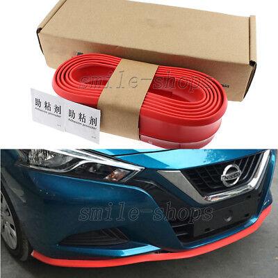 """Red  98/"""" Front Bumper Lip Splitter Body Spoiler Protector Rubber Fit Chrysler"""
