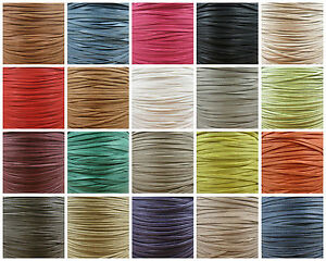 FLAT-2mm-3mm-4mm-7mm-WAXED-COTTON-CORD-23-COLOURS-JEWELLERY-MAKING-STRINGING