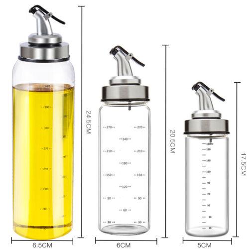 Glass Olive Oil Spray Cooking Seasoning Bottle Vinegar Dispenser Pourer Bottle