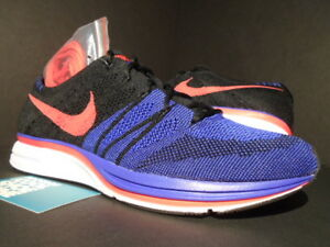 804a51061bf5 NIKE FLYKNIT TRAINER RACER BLACK SIREN RED WHITE CONCORD PURPLE ...