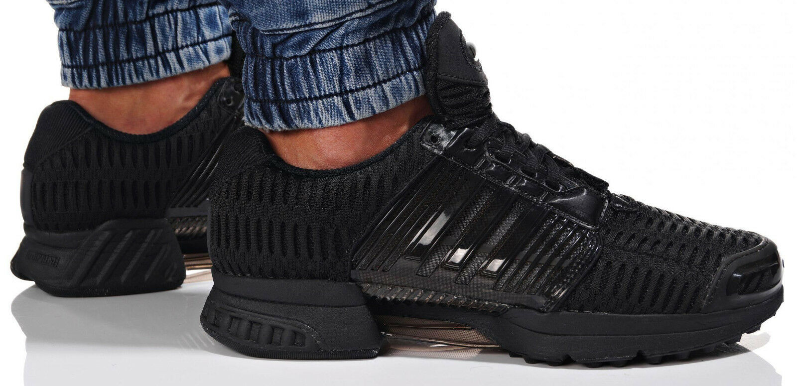 UK SIZE 4.5 - adidas ORIGINALS CLIMACOOL 1 TRAINERS - BLACK