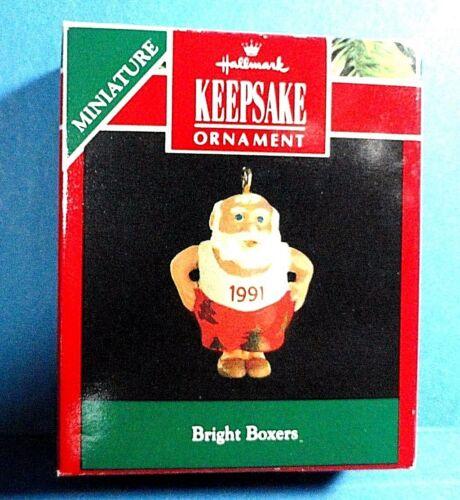 """Hallmark /""""Bright Boxers/"""" Miniature Ornament Dated 1991"""
