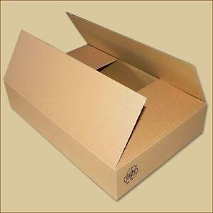 200 Karton Faltkarton Faltschachteln 420 x 200 x 80 mm