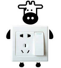 Sweet Calf Robot Switch Light Funny Wall Decal Vinyl Stickers DIY ~1pc~