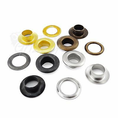 5 mm 6 mm or 8 mm steel eyelets with washers in silver black gold antique brass
