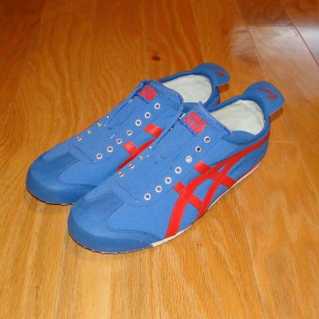 hot sales e4c93 24d1e Asics Onitsuka Tiger Mexico 66 Shoes NEW Size 12 Blue Red D3K0N Men's  Laceless