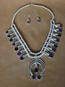 Native-American-Jewelry-Spiny-Oyster-Squash-Blossom-Necklace-Set-Louise-Yazzie