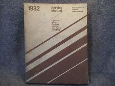 1982 Chrysler Diplomat Mirada Cordoba Imperial New Yorker Service Manual U687