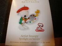 Hallmark Spotlight On Snoopy Series Artist Snoopy 13 In Series 2010