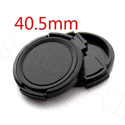 2 Pcs 40.5MM TRADITIONAL SIDE-PINCH CLIP-ON FRONT LENS CAP FOR PANASONIC SONY