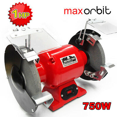 "200mm 8"" Bench Grinder 750W 1 HP Industrial Grinding Double Wheel Polisher"