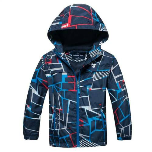 Boys Girl Kids Fleece Ski Snow Winter Jacket Coats Hoodie Hooded Wind//Waterproof
