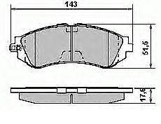 4 disques de Frein plaquette de frein avant arrière Chevrolet Daewoo Lacetti Nubira 2005