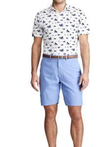 NWT-RLX-RALPH-LAUREN-GOLF-Men-s-Blue-Moisture-Wicking-Stretch-Golf-Shorts-Sz-35