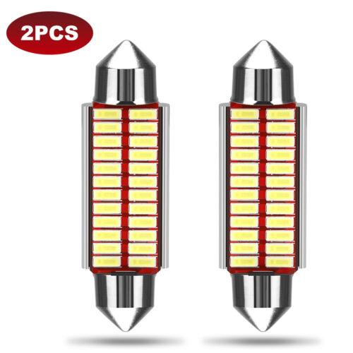 2Pcs 480LM License Plate Light 31mm Super Bright LED for Car Roof Lamp door lamp
