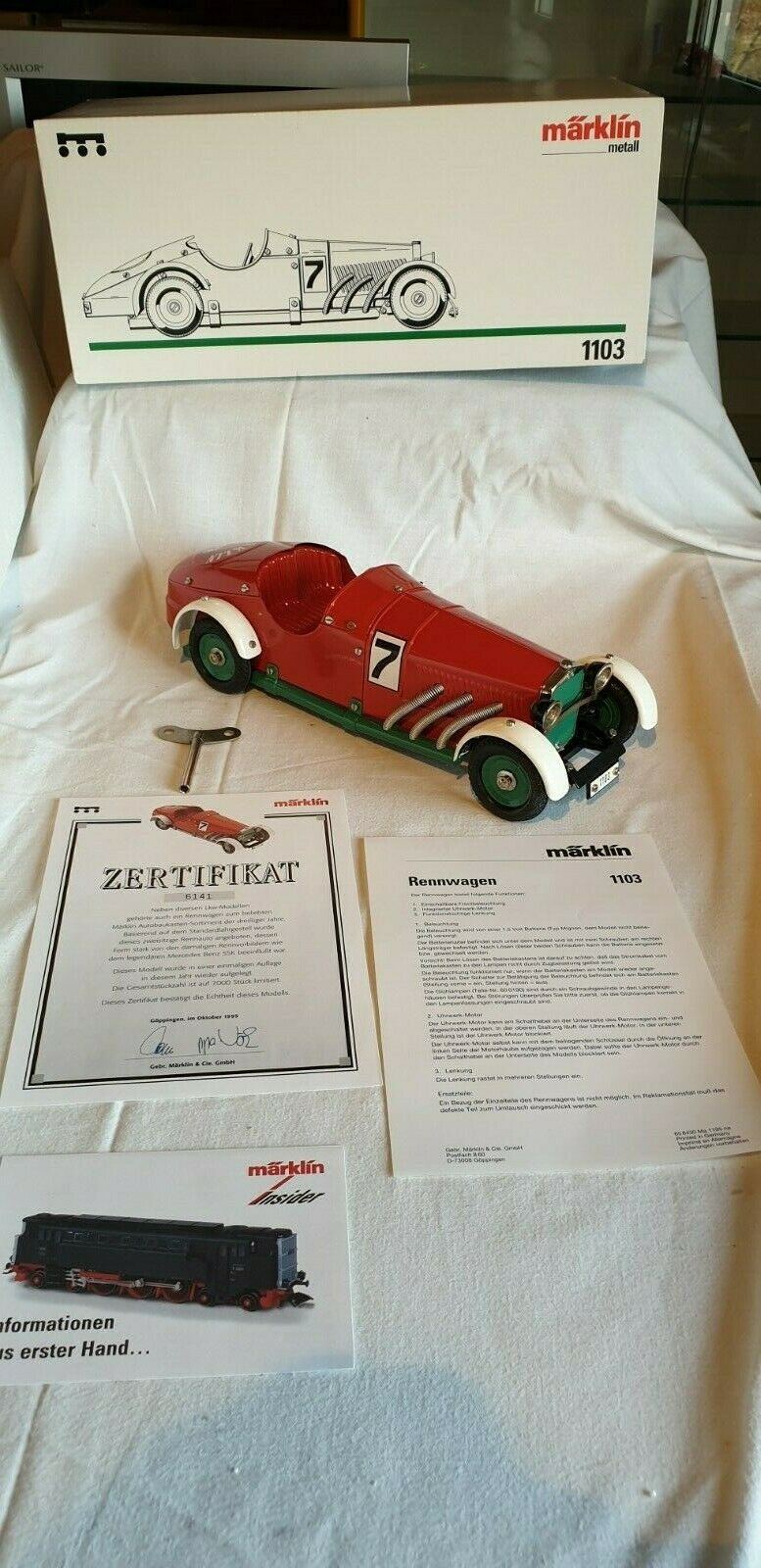 Märklin metal coches de carreras nº 1103 de 1995, nuevo, embalaje original