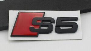 Audi Black S Boot Badge Quattro Rear Tailgate Trunk Emblem Logo Red UK STOCK