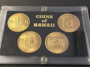 Coins-of-Hawai-4-Gedenkmuenzen-Dollars