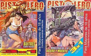 PISTOLERO MEXICAN COMIC MEXICO HISTORIETA, COMO LIBRO VAQUERO, PERVERSAS