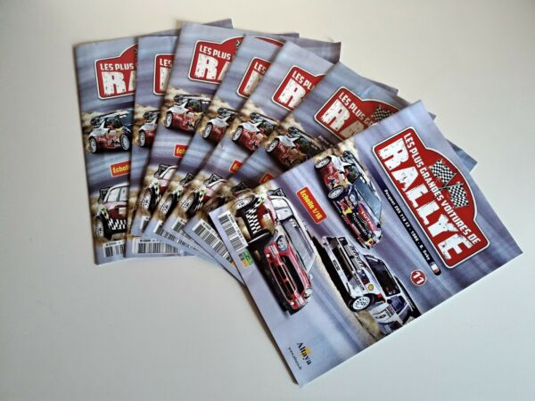7 Fascicules De La Collection Altaya Les Plus Grandes Voitures De Rallye 1/18 Laissons Nos Produits Aller Au Monde