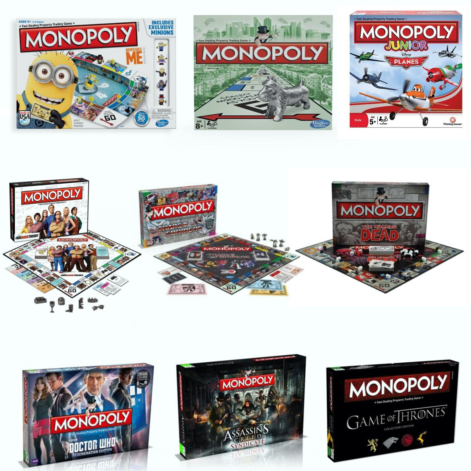 tv show series movies monopoly board family fun play game brand new gift ebay. Black Bedroom Furniture Sets. Home Design Ideas