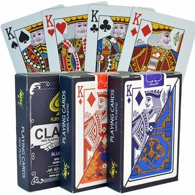 2 Sets//Lot Baccarat Texas Hold/'em Plastic Playing Cards wear-resistant
