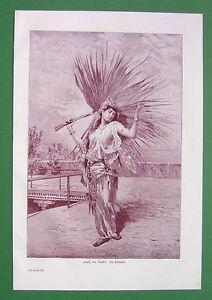 HAREM-ODALISQUE-Sultan-039-s-Favorite-Antique-Print-Engraving