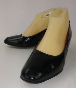 Jack-Rogers-for-Talbots-1404-Womens-Heels-US-8-B-Black-Leather-Work-Pumps-2150
