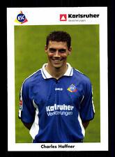 Charles Haffner Autogrammkarte Karlsruher SC 2002-03 Original Signiert+A 142583