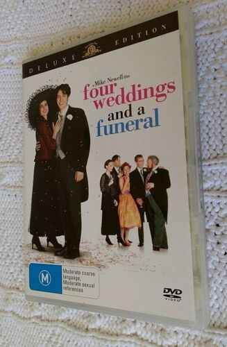 1 of 1 - Four Weddings And A Funeral (DVD, 2007) R-4, LIKE NEW, FREE POST IN AUSTRALIA