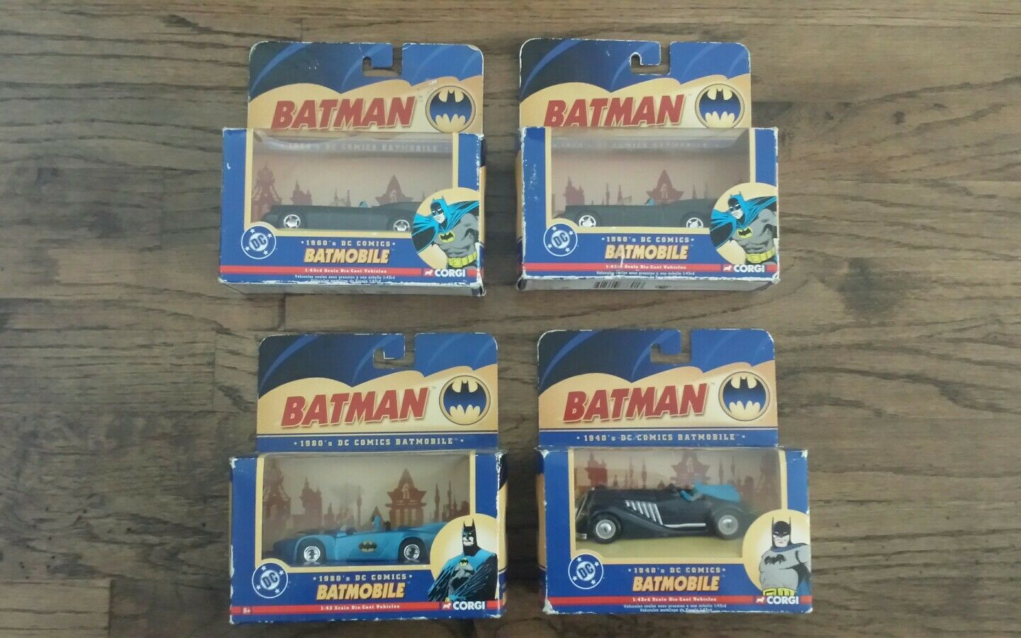 CORGI 2005 Batmobile Lot de 4, échelle 1 43, Voitures