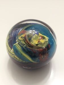 Beautiful Multi-color Hand Blown Art Glass Sculpture PAPERWEIGHT