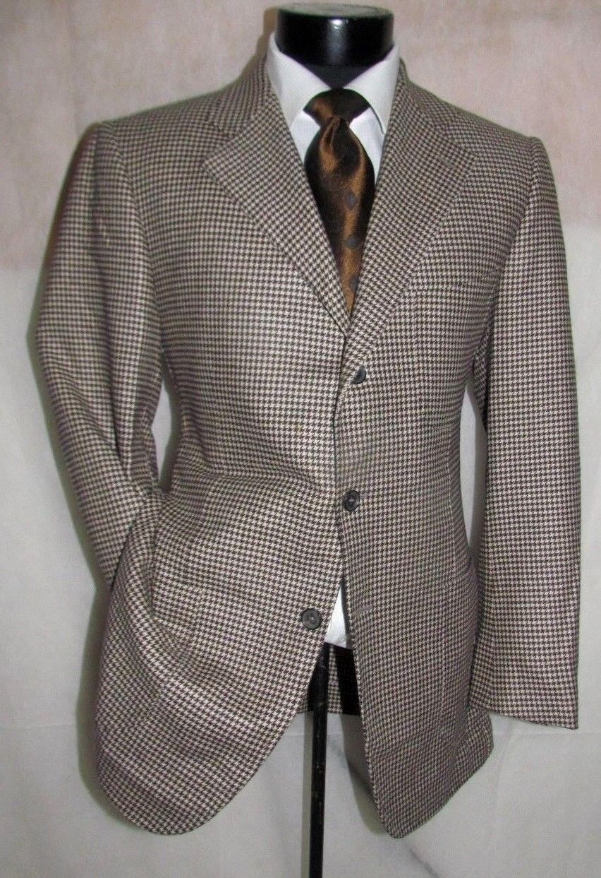 3500 Isaia Three Buttons Dual Vents braun& Tan wolleCashmere männer jacke 40 R
